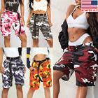 US Women Camo Cargo Trousers Casual Pants Military Army Comb