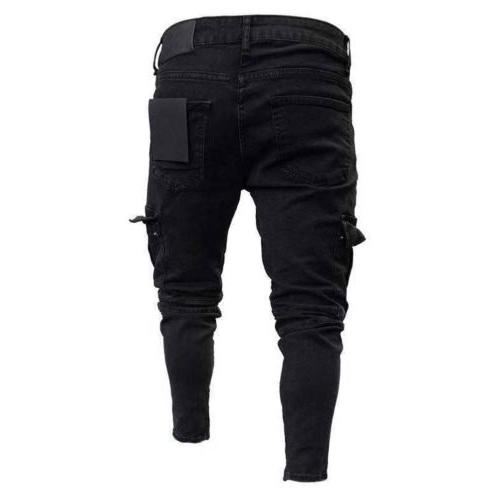 USA Skinny Destroyed Frayed Denim Pants Trousers