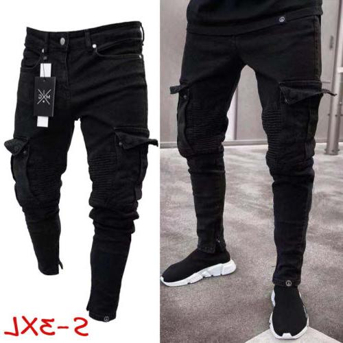 USA Destroyed Frayed Fit Denim Trousers