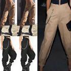 USA Women Cargo Pants High Waist Jogger Skinny Trousers Side