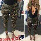 USA Women Casual Long Pants Army Cargo Jogger Military Camou