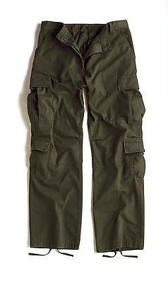 Vintage Olive Drab Paratrooper Cargo Pants BDU XS-3XL