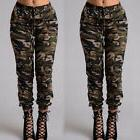 Women Camouflage Pants Camo Casual Cargo Joggers Military Ar