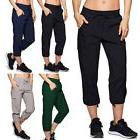 Women Casual Baggy Pockets Walking Cargo Lightweight Pants D