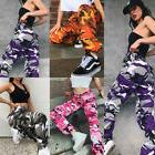 Womens Camo Cargo Trousers Casual Pants Ladies Military Army