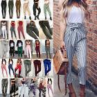 Women Pencil Trousers Skinny Stretch High Waist Leggings Pan