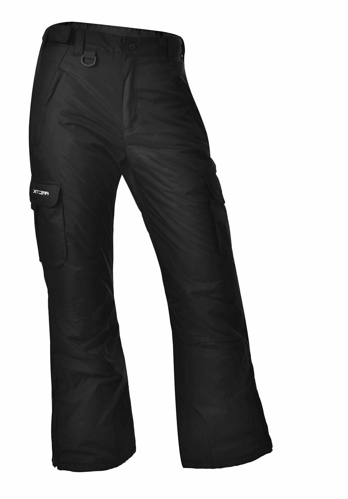 women s cargo snow pants black small