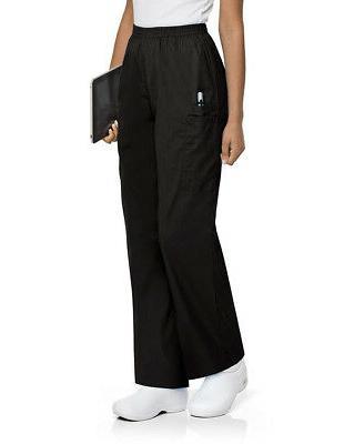 Landau Women's Full Elastic Waist Cargo Scrub Pant - 83221 F
