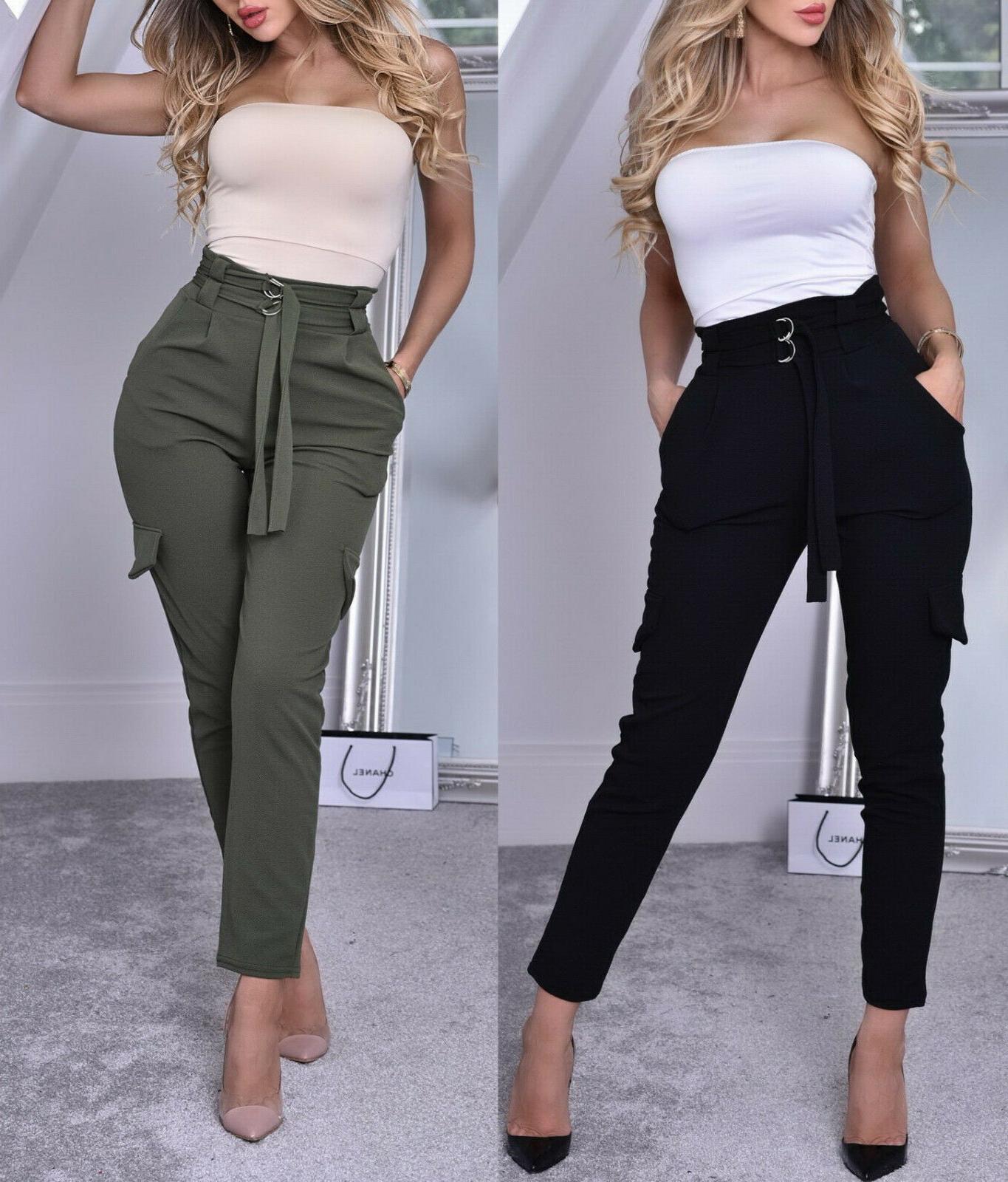 women s high waist crepe cargo pant