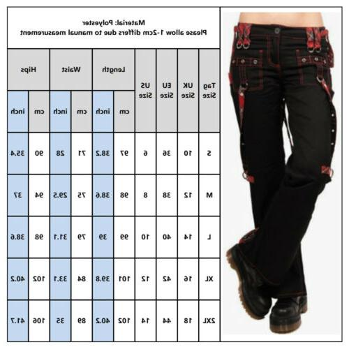Women's Punk Trousers Ladies Combat Straight Cargo Pants