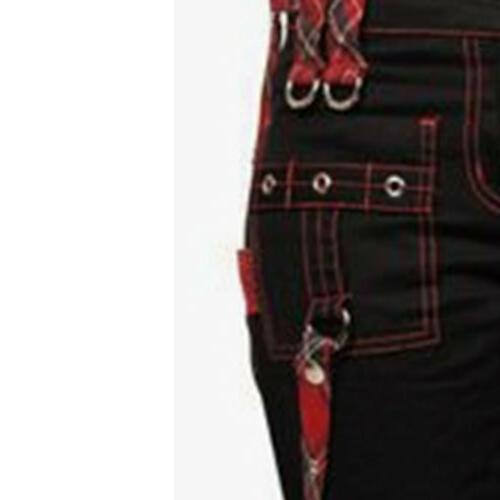 Women's Punk Gothic Ladies Wide Leg Casual Combat Straight Cargo Pants