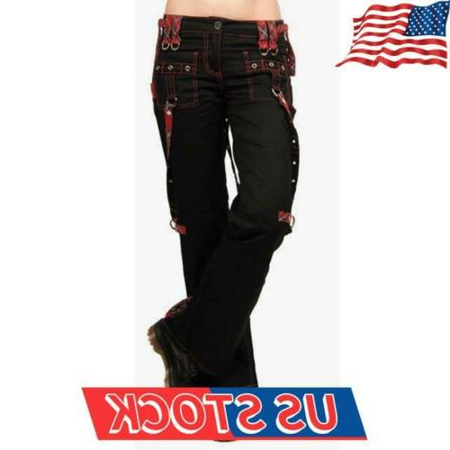 women s punk gothic trousers ladies wide