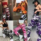 Womens Camo Cargo Trousers Military Combat Camouflage Jogger