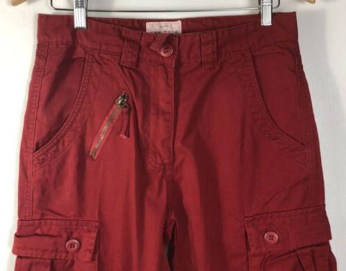 Must Red Multi-pocketed NWT