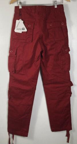 Red Cargo Size Multi-pocketed NWT