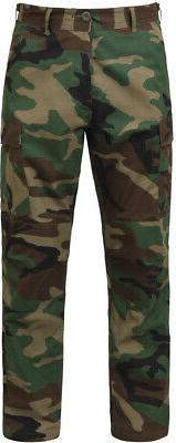Woodland Camo BDU Pants Lightweight Military Ripstop Summer