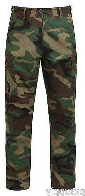 Woodland Camouflage BDU cargo pants military style rip stop