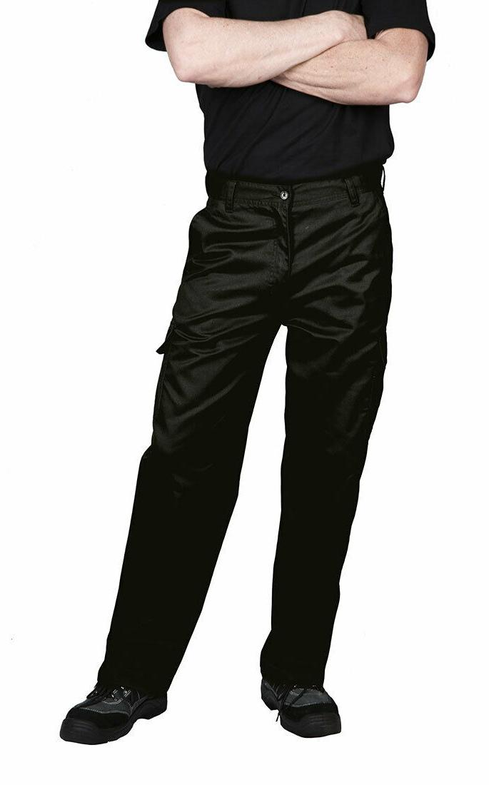 Portwest C701 Cargo Work Pants for Men, in Navy & Black: siz