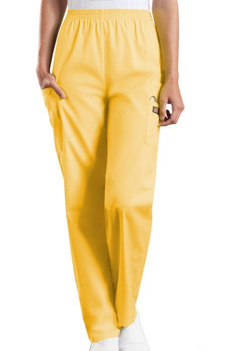 Cherokee Workwear 4200 Scrub Pants Women Cargo Pocket Elasti