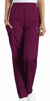 Cherokee Workwear Scrubs Pants Women Cargo Pocket Pull on El