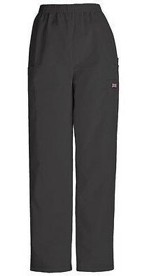 Cherokee Workwear Scrubs Pull On Cargo Pant 4200 Black elast