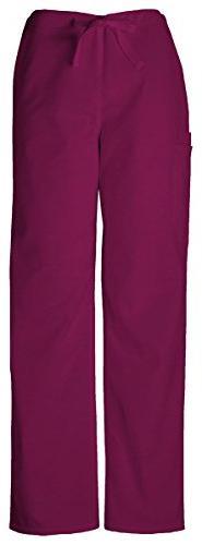 Cherokee Workwear Unisex Tall Drawstring Cargo Pant_Wine_X-L