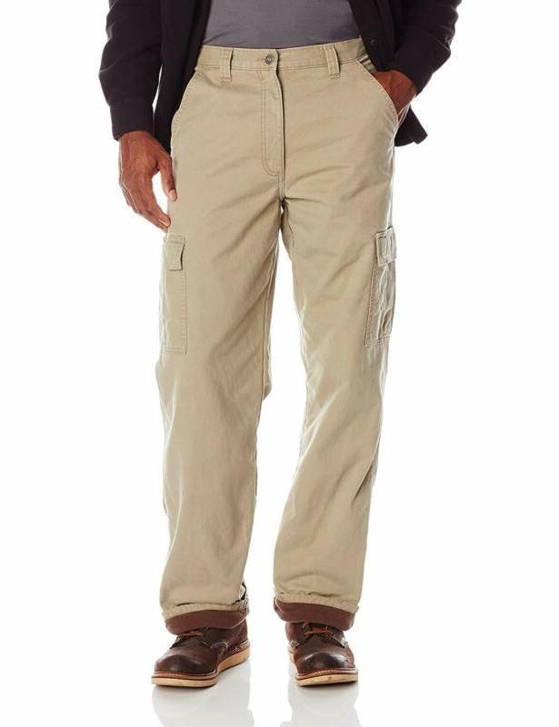 wrangler authentics mens fleece lined cargo pant