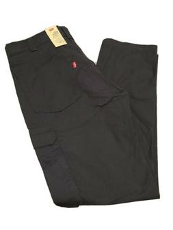 Levi's 502 Taper Hybrid Cargo Stretch Fit Black Men Pants 34