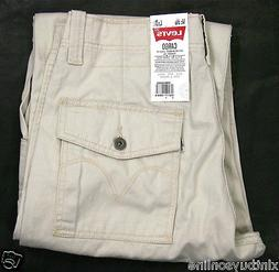 Levi's Cargo Pants Loose Fit Straight Leg 6420002 Ivory Crea