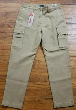 LEVI'S Men's 32x30 Khaki Tan Cargo Pants Stretch Slim Tapere