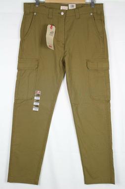 Levi's Men's 502 Taper Fit Hybrid Cargo Pants Cougar Brown 7