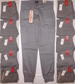 LEVI'S MEN'S BANDED CARGO JOGGER PANTS STEEL GRAY 29x30, 30x