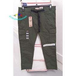 LEVIS 502 REGULAR TAPER CARGO PANTS 576700001 OLIVE GREEN ME