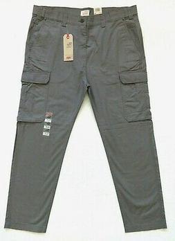 Levis 502 Taper Hybrid Cargo Pants Mens Size 40x32 Gray Stre