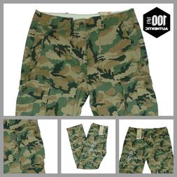 Levis Ace Cargo Pants Green Camouflage Relaxed Fit  100% Cot