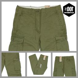 Levis Ace Cargo Pants Ivy Green Mens Relaxed Fit 100% Cotton