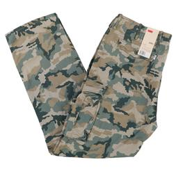 Levis Mens Big And Tall Cargo Pants Casual Bottoms Green Cam