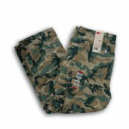 Levis Relaxed Fit Ace Cargo Pants Camo Green Beige Black 30