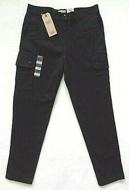 Levis Slim Tapered Cargo Pants Mens Size 32x30 Black Stretch