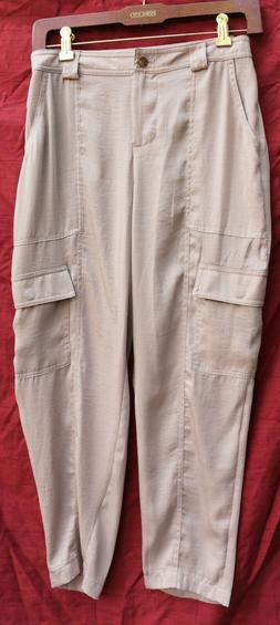 "GUESS light brown SATIN size small -  cargo pants 30"" waist"