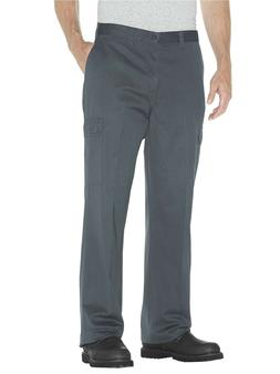 Dickies Men's Loose Fit Cargo Work Pant, Charcoal, 42x30