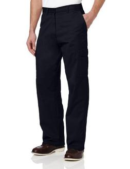 Dickies Men's Loose Fit Cargo Work Pant, Dark Navy, 40x30