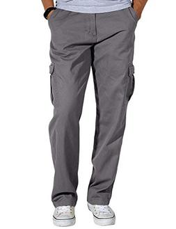 Match Men's Loose-Fit Straight Stretch Twill Cargo Pants