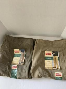 Lot of 2 Wrangler Cargo Pants Men 44X32 relax fit tech pocke