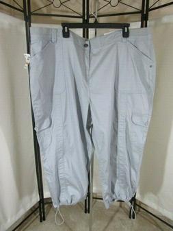 MACY'S STYLE & CO WOMEN'S PLUS SIZE CAPRI CARGO PANTS - 16W,