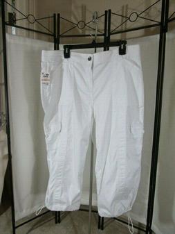 MACY'S STYLE & CO WOMEN'S PLUS SIZE CAPRI CARGO PANTS - 14W,