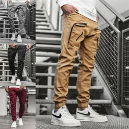 Man's Casual Joggers Pants Sweatpants Cargo Combat Loose Spo
