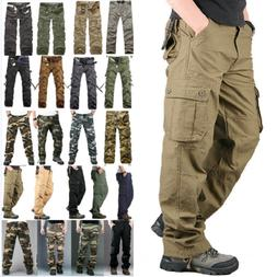 Men Army Military Cargo Combat Pants Outdoor Hiking Casual T