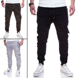 Men Casual Joggers Pants Sweatpants Cargo Combat Active Spor