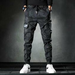 Men Casual Streetwear Jogger Cargo Pants Sweatpants Combat S